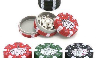3 Layers Herb Crusher Poker Chip Style Herbal Tobacco Weed Smoking Crusher 16