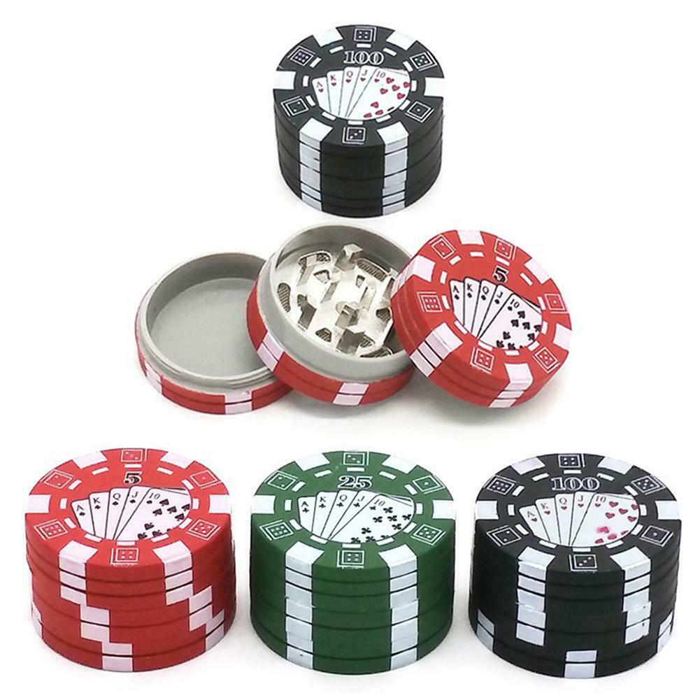 3 Layers Herb Crusher Poker Chip Style Herbal Tobacco Weed Smoking Crusher 1