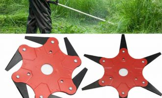 6 Steel Outdoor Trimmer Head Blades Razors Lawn Mower Grass Weed Cutter Kit  US 4