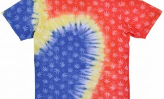 Black Scale x HUF Tie Dye Occult Weed T-Shirt BLVCK SCVLE Mens 4