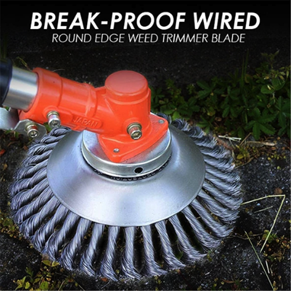 Break-Proof Wired Round Edge Weed Trimmer Blade Weed Lawn Mower Tool 6/8 INCH US 1