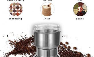 Electric Grinder Coffee Spice Tobacco/Weed Smoke Metal Crusher Leaf Design P9V2 11