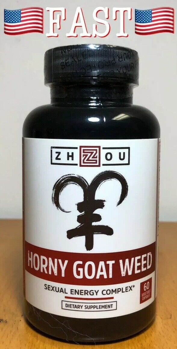 ZHOU Premium Horny Goat Weed Sexual Energy Complex 60ct - Sealed! READ 1