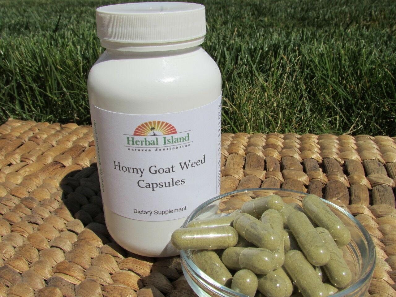 Horny Goat Weed - Epimedium Powder Capsules - 500mg - Free Shipping 1