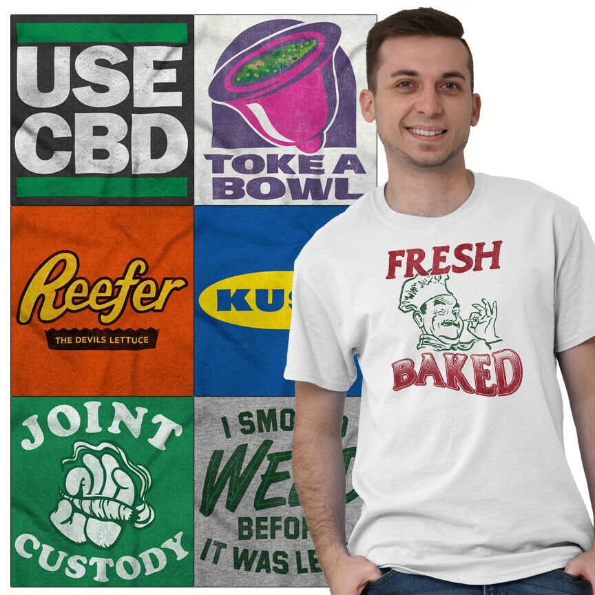 Marijuana Tee Shirt Pot T Shirts For Mens Women Stoner Novelty Gift TShirts Tees 1