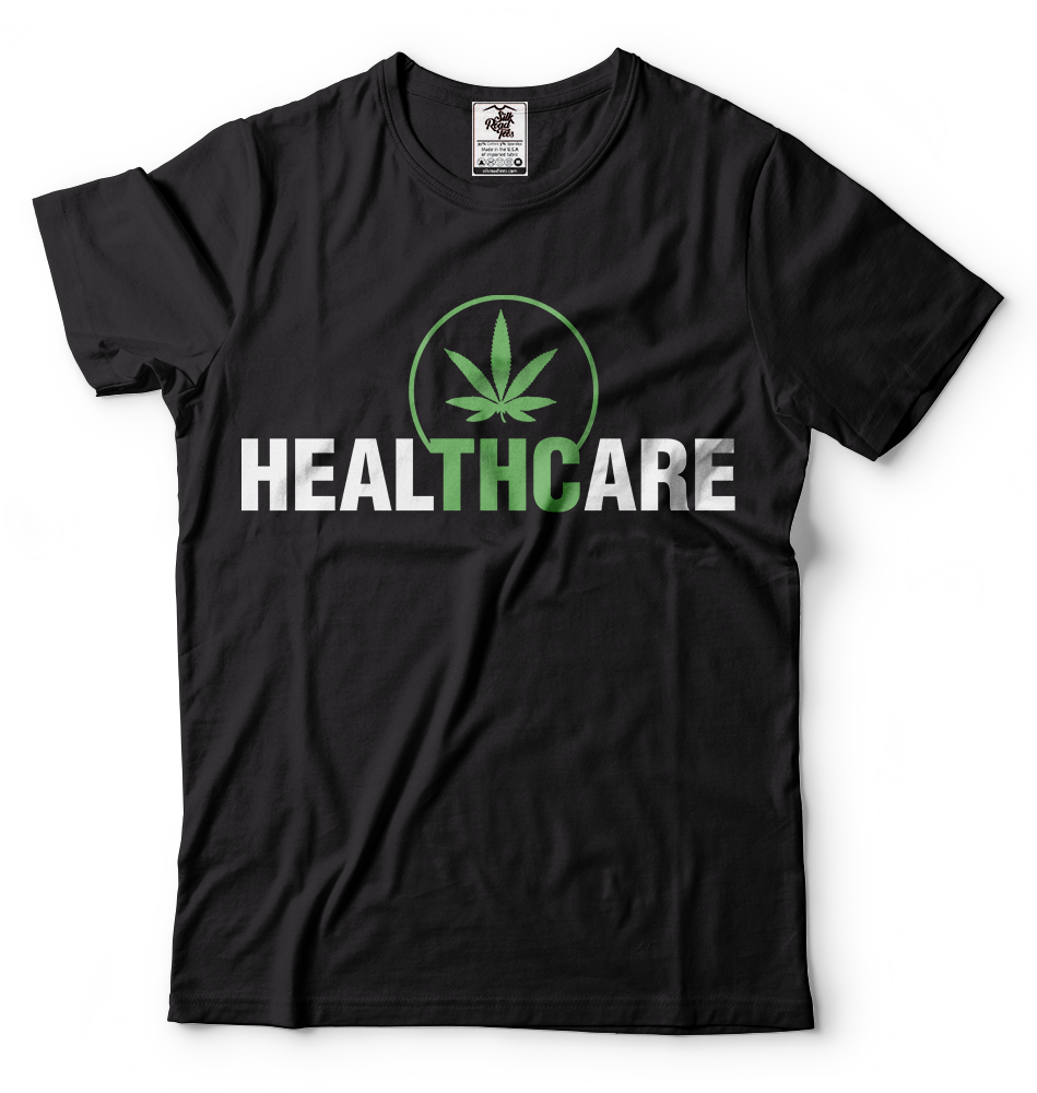 THC Is Medicine Weed Cannabis T-shirt Healthcare t-shirt Funny Marijuana Shirt 2