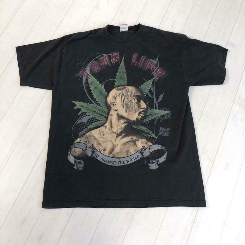 TUPAC Thug Life t-shirt hip hop rap marijuana 1