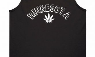 Marijuana Weed Minnesota USA State MN Tank Top T-Shirt 1