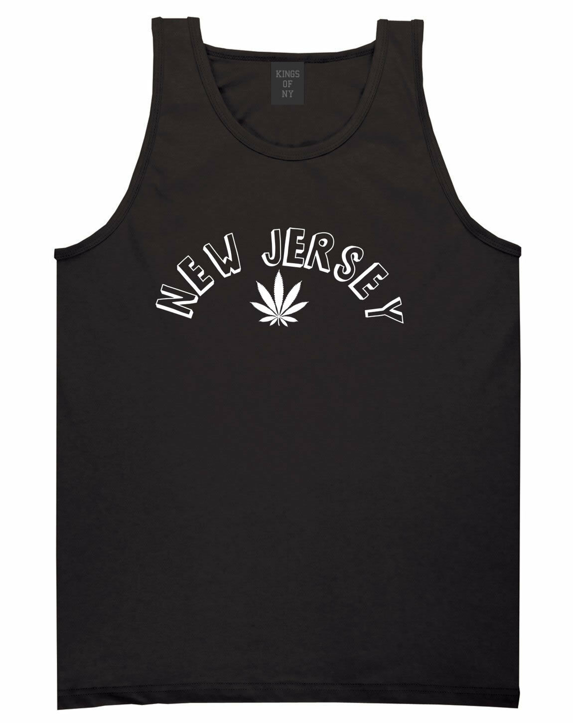 Marijuana Weed New Jersey USA State NJ Tank Top T-Shirt 1