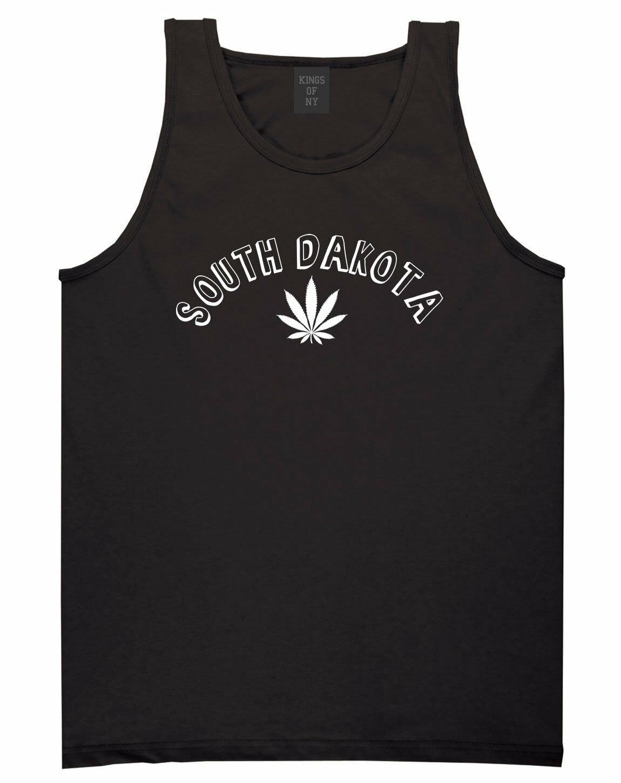 Marijuana Weed South Dakota USA State SD Tank Top T-Shirt 1