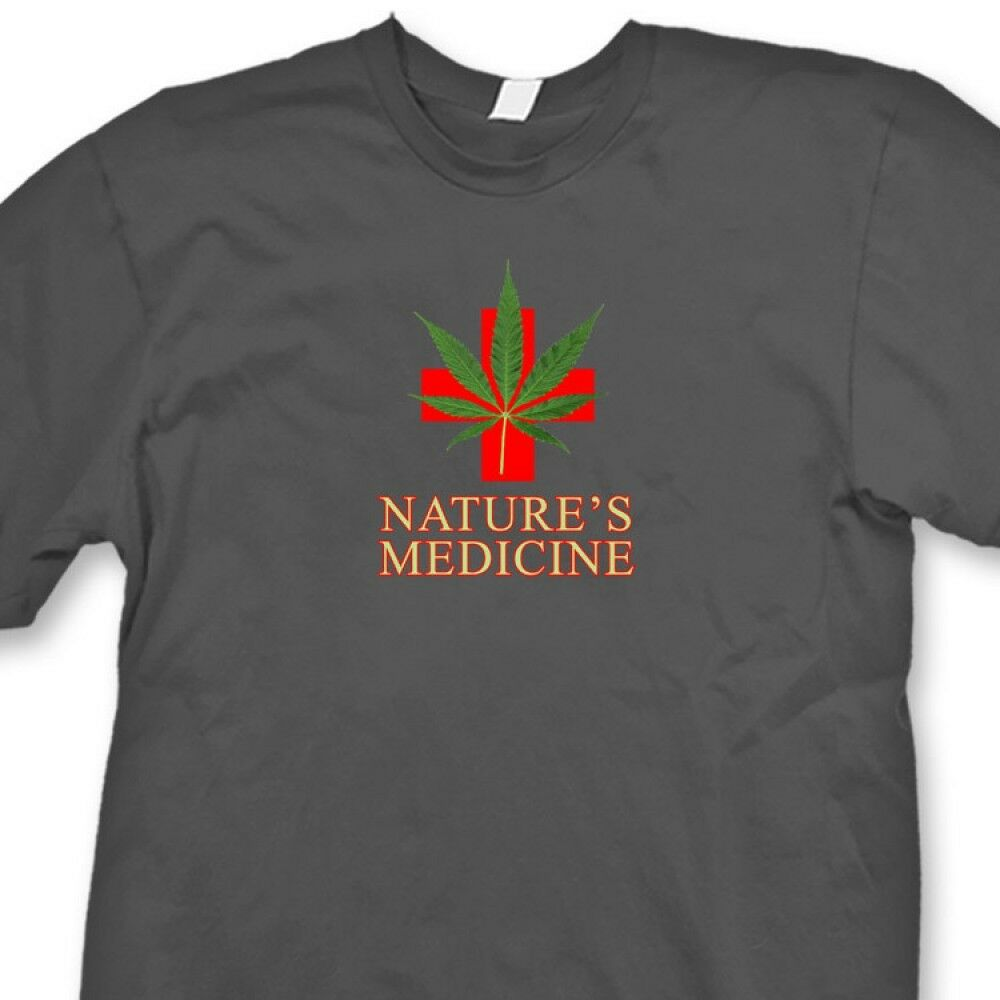 Natures Medicine Medical Marijuana T-shirt 420 Weed Kush Herb Tee Shirt 1