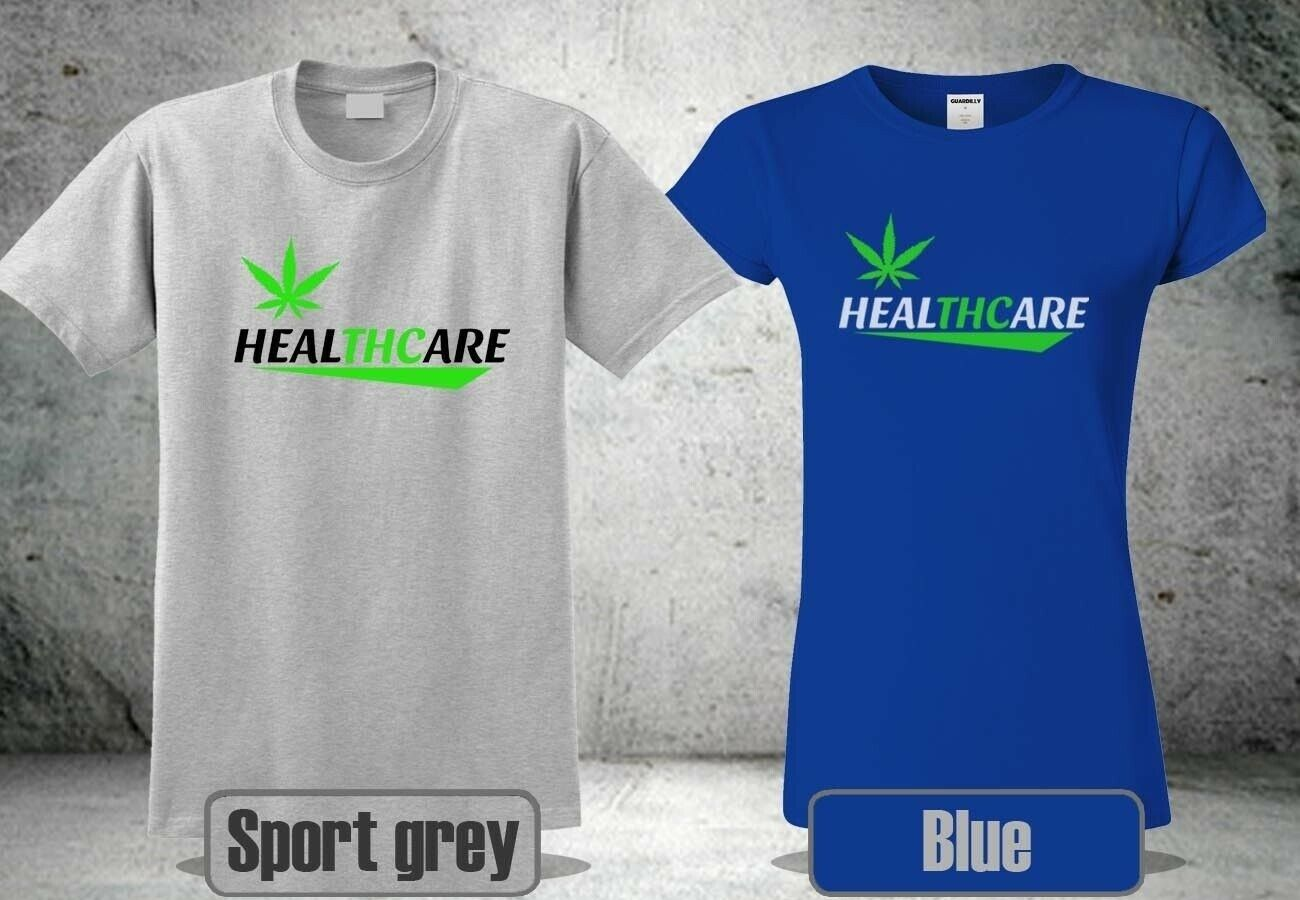 NEW THC IS MEDICINE WEED CANNABIS T-SHIRT HEALTHCARE MEN &WOMEN COOL 2 HA1 1