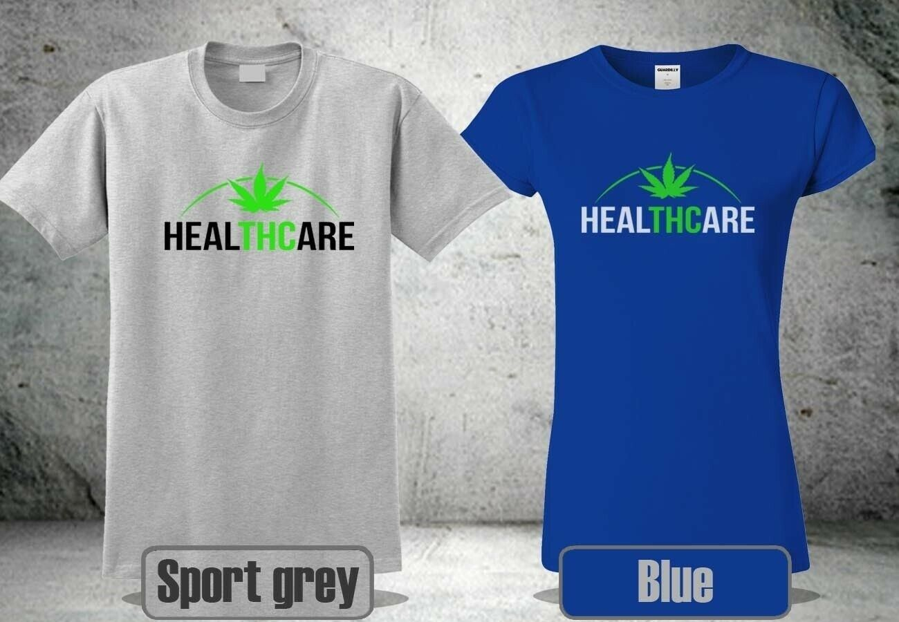 NEW THC IS MEDICINE WEED CANNABIS T-SHIRT HEALTHCARE MEN &WOMEN COOL 3 HA1 1