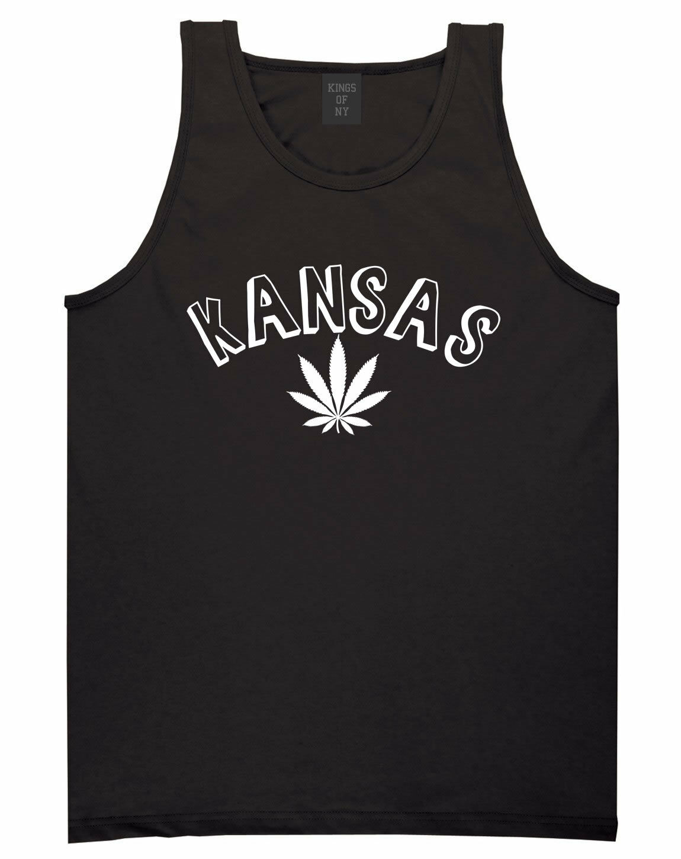 Marijuana Weed Kansas USA State KS Tank Top T-Shirt 1