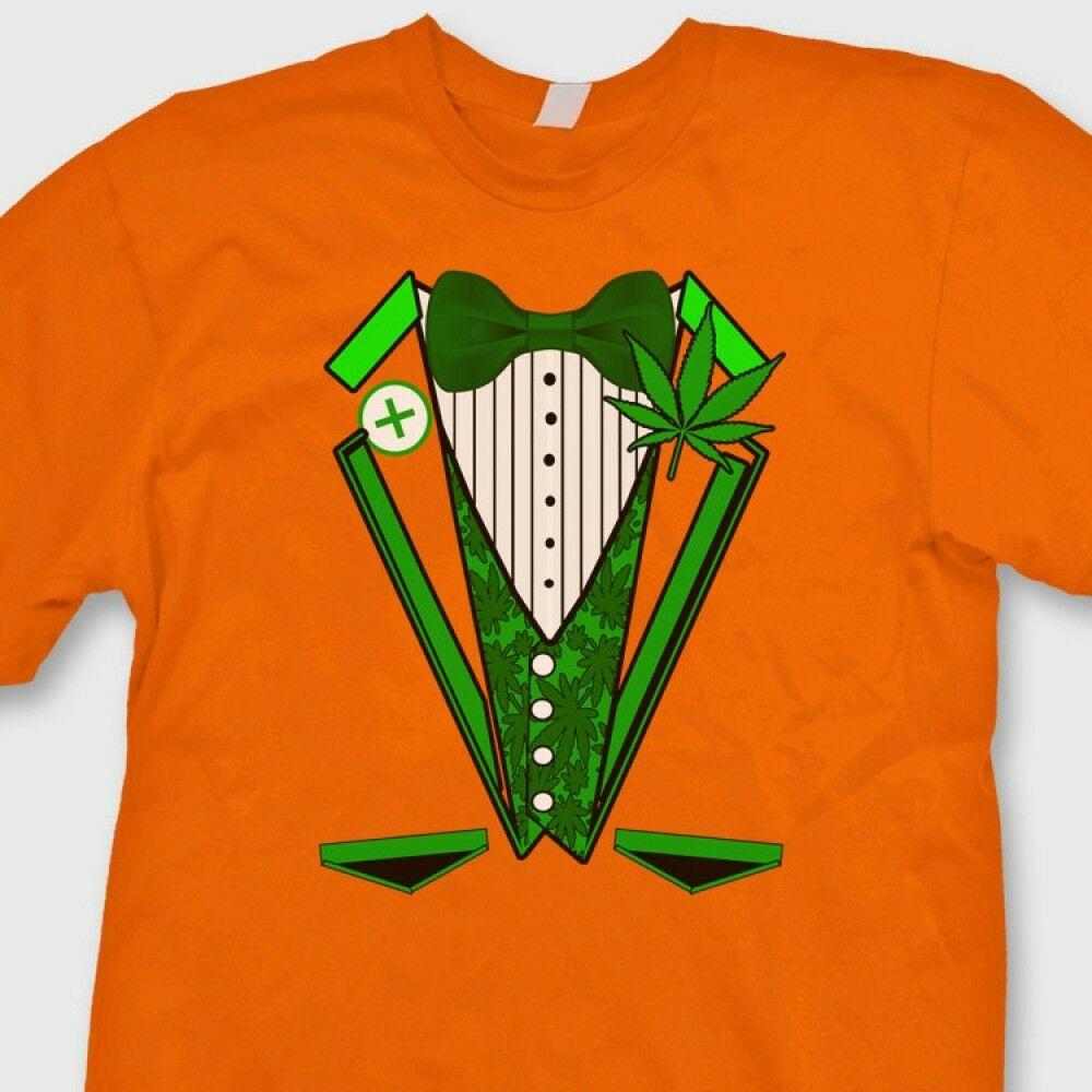 Pot Tuxedo Marijuana Formal 420 T-shirt Funny Kush Weed Costume Tee Shirt 1