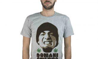 T-shirt Domani Smetto, article T-shirt grey Music Hip Hop Marijuana 12