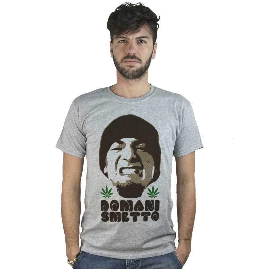 T-shirt Domani Smetto, article T-shirt grey Music Hip Hop Marijuana 1