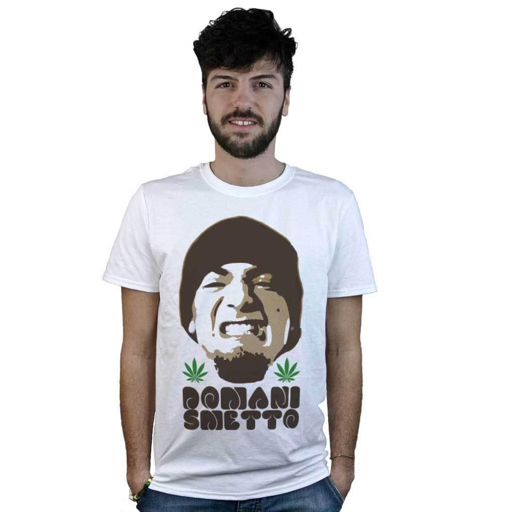 T-Shirt Domani Smetto, Article T-Shirt White Music Hip Hop Marijuana 1