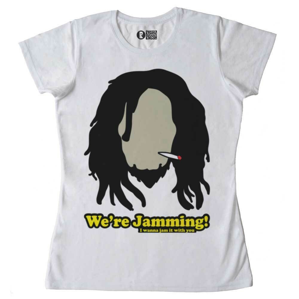 T-Shirt Jamming, T-Shirt Woman, Music Reggae, Dancehall, Rasta, Marijuana 1