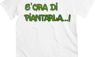 T-Shirt Ora of Piantarla, T-Shirt White Funny on Theme of Marijuana 3