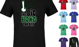The Big Bong Theory weed pot Marijuana Graphic tee Funny T-shirt  P18 11
