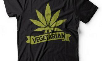Vegetarian tshirt THC Weed Cannabis T-shirt Funny Marijuana Shirt Vegan Weed Tee 7