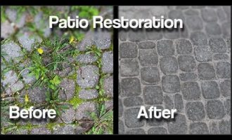 How to permanently eliminate weeds from you interlocking patio. 2
