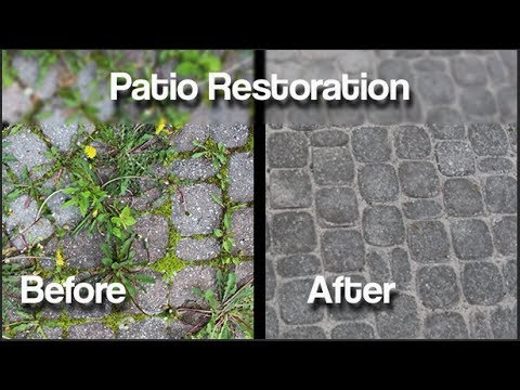How to permanently eliminate weeds from you interlocking patio. 1