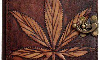 Handmade Genuine Leather Journal Refil Brown Diary Notebook Sketchbook Marijuana 1