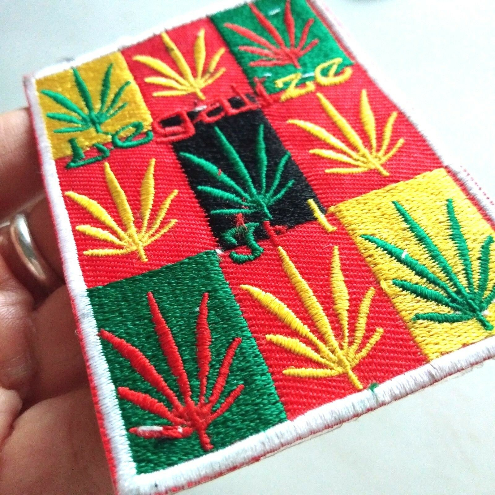 Marijuanas Legalize Embroidered Sew Iron Craft Applique Patches 1