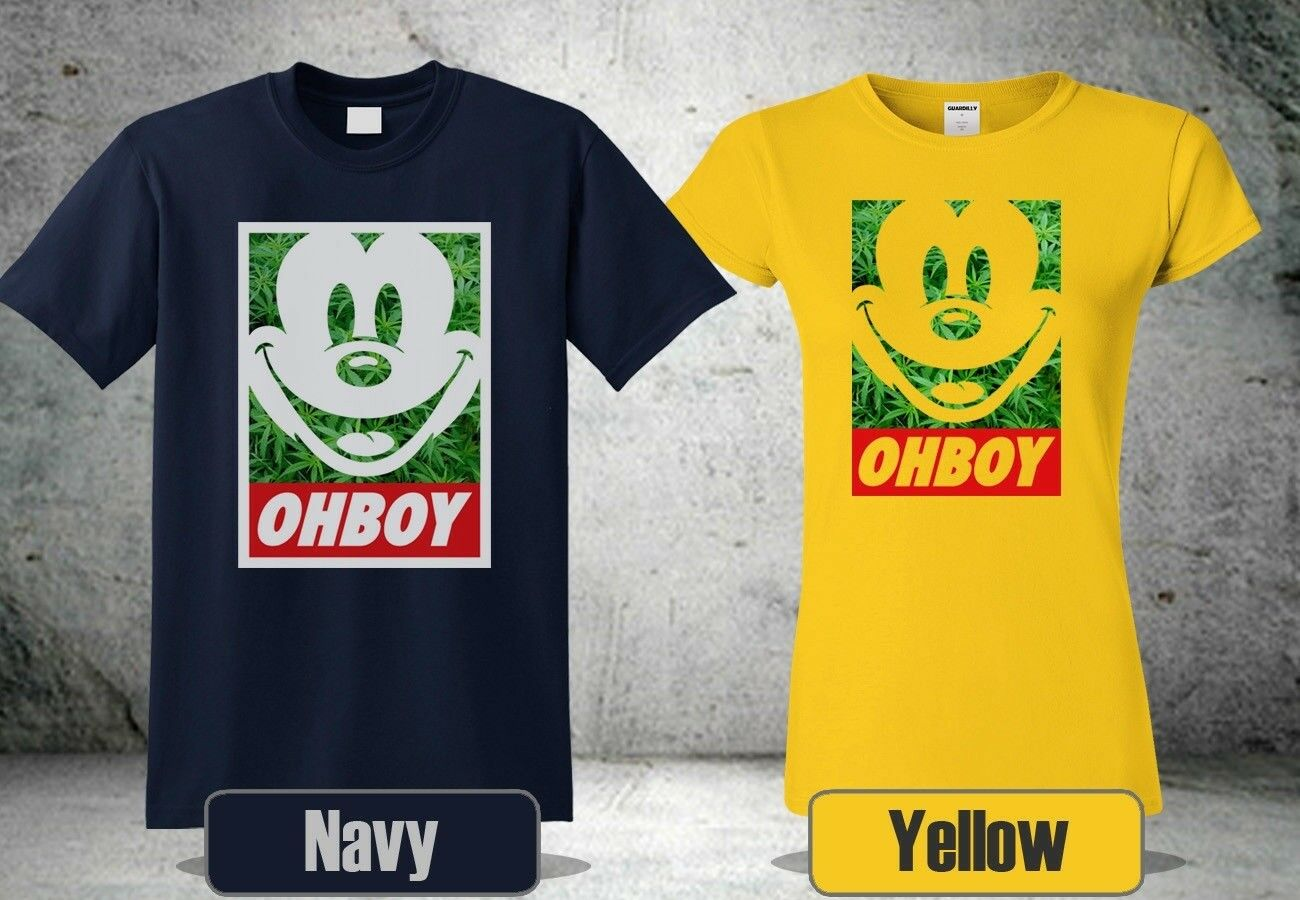 Mickey Weed T-Shirt New Colour Yellow&Navy Blue Short Sleeve Cool Shirt 4 1
