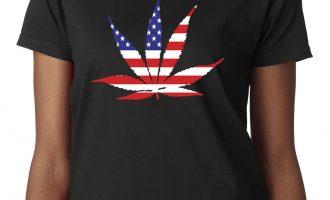 New Way 1493 - Women's T-Shirt American Pot Leaf Marijuana Legalize Weed USA 7