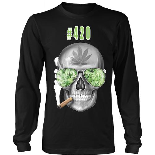 #420 Mens Longs Sleeve Weed Shirt 1