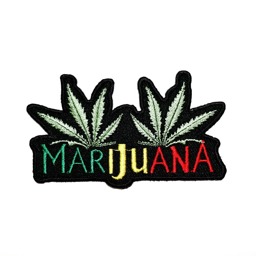 Marijuanas Weed Reggae Ska Biker Hippie Emblem Cloth Jeans Jacket Iron on Patch 1