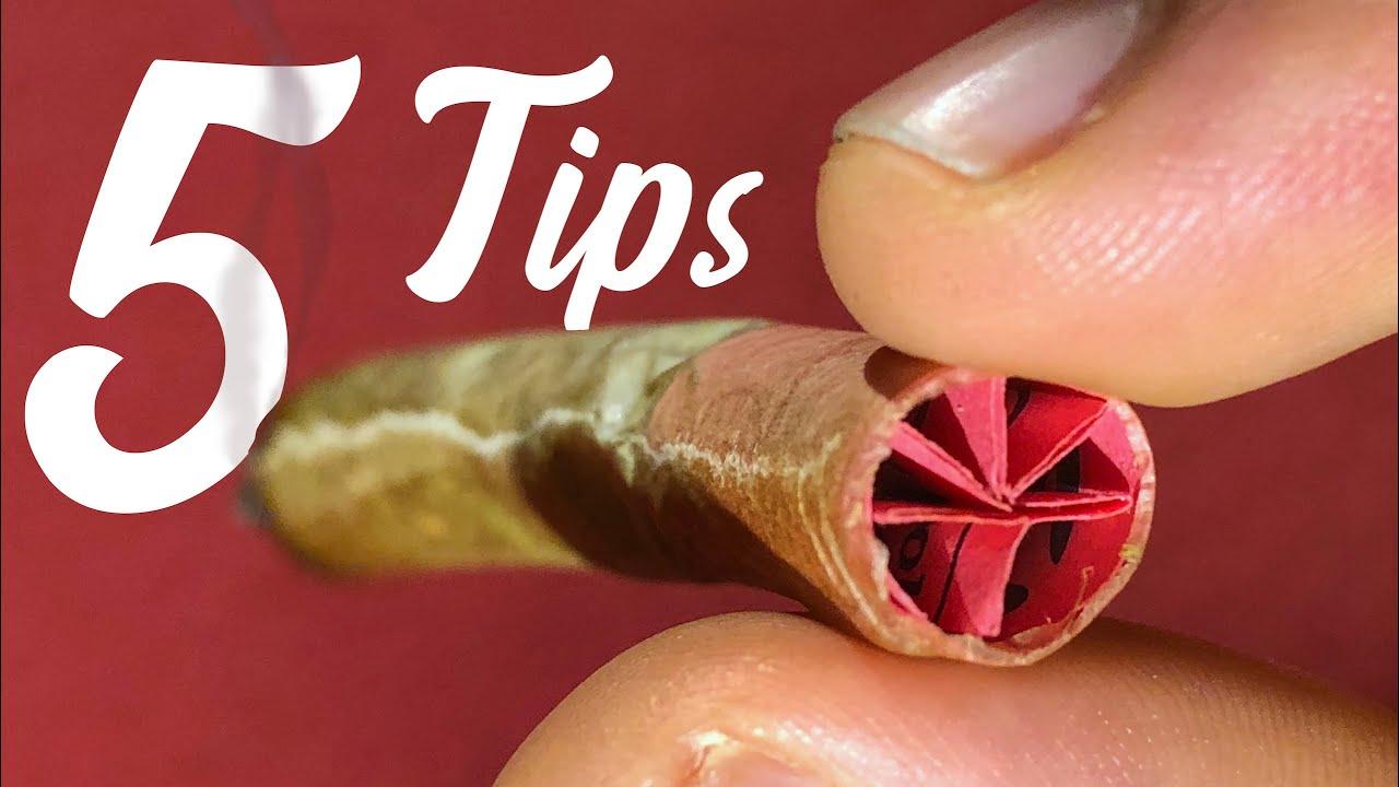 5 ways to make a filter tip | ASMR WEED 1