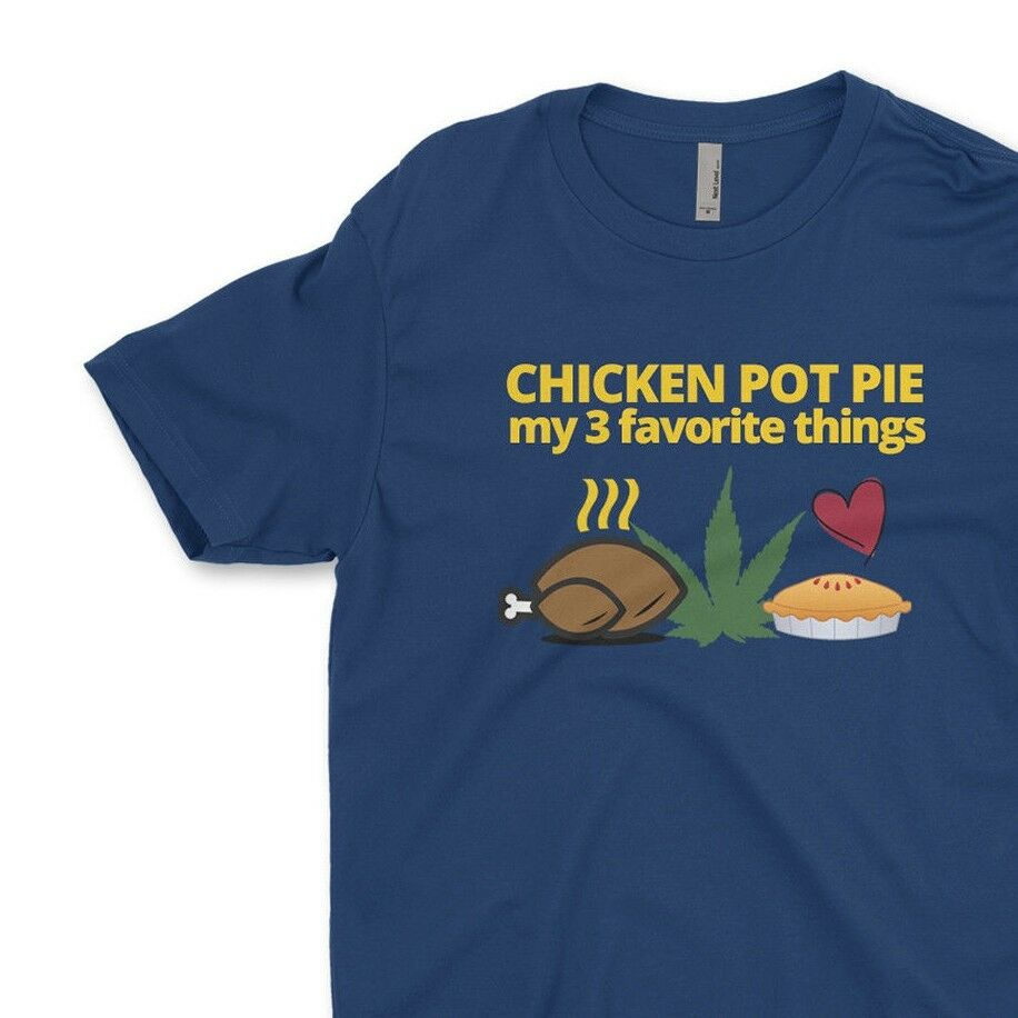 Chicken Pot Pie Weed Bartender Men's T-Shirt Funny Graphic Tees Street Apparel 1