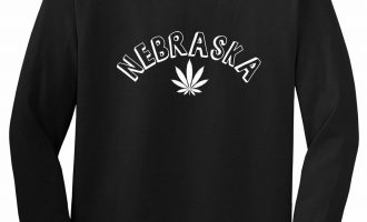 Marijuana Weed Nebraska USA State NE Long Sleeve T-Shirt 5
