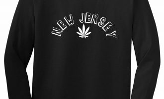 Marijuana Weed New Jersey USA State NJ Long Sleeve T-Shirt 14
