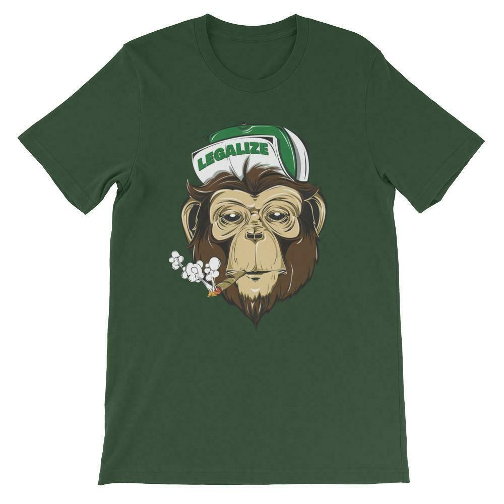 Stoned Monkey Legalize Weed T-Shirt 1