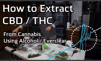 How to Extract CBD/THC from Cannabis with Alcohol/Everclear 9