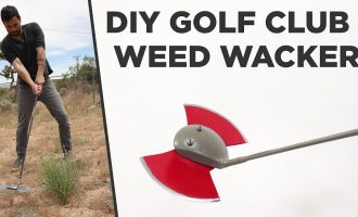 DIY Golf Club Weed Wacker 7
