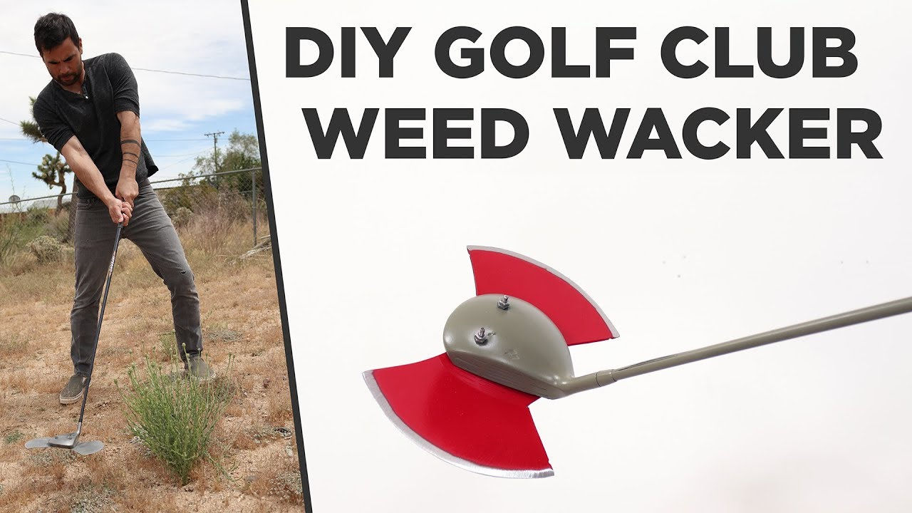 DIY Golf Club Weed Wacker 1