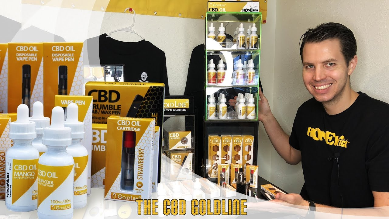CBD Goldline: Full Spectrum Extract CBD Crumble, CBD Oil Tinctures, Edibles, Pre-filled Cartridges 1