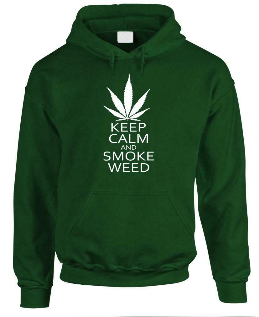 KEEP CALM AND SMOKE WEED - Fleece Pullover Hoodie 1