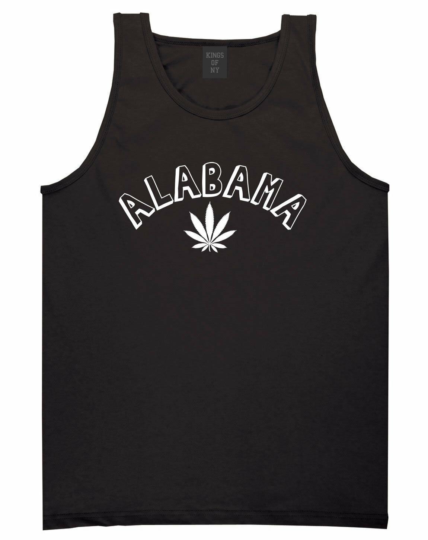 Marijuana Weed Alabama USA State AL Tank Top T-Shirt 1