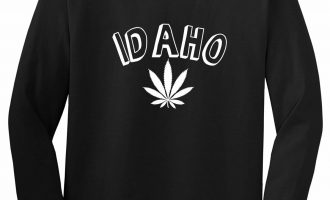 Marijuana Weed Idaho USA State ID Long Sleeve T-Shirt 2