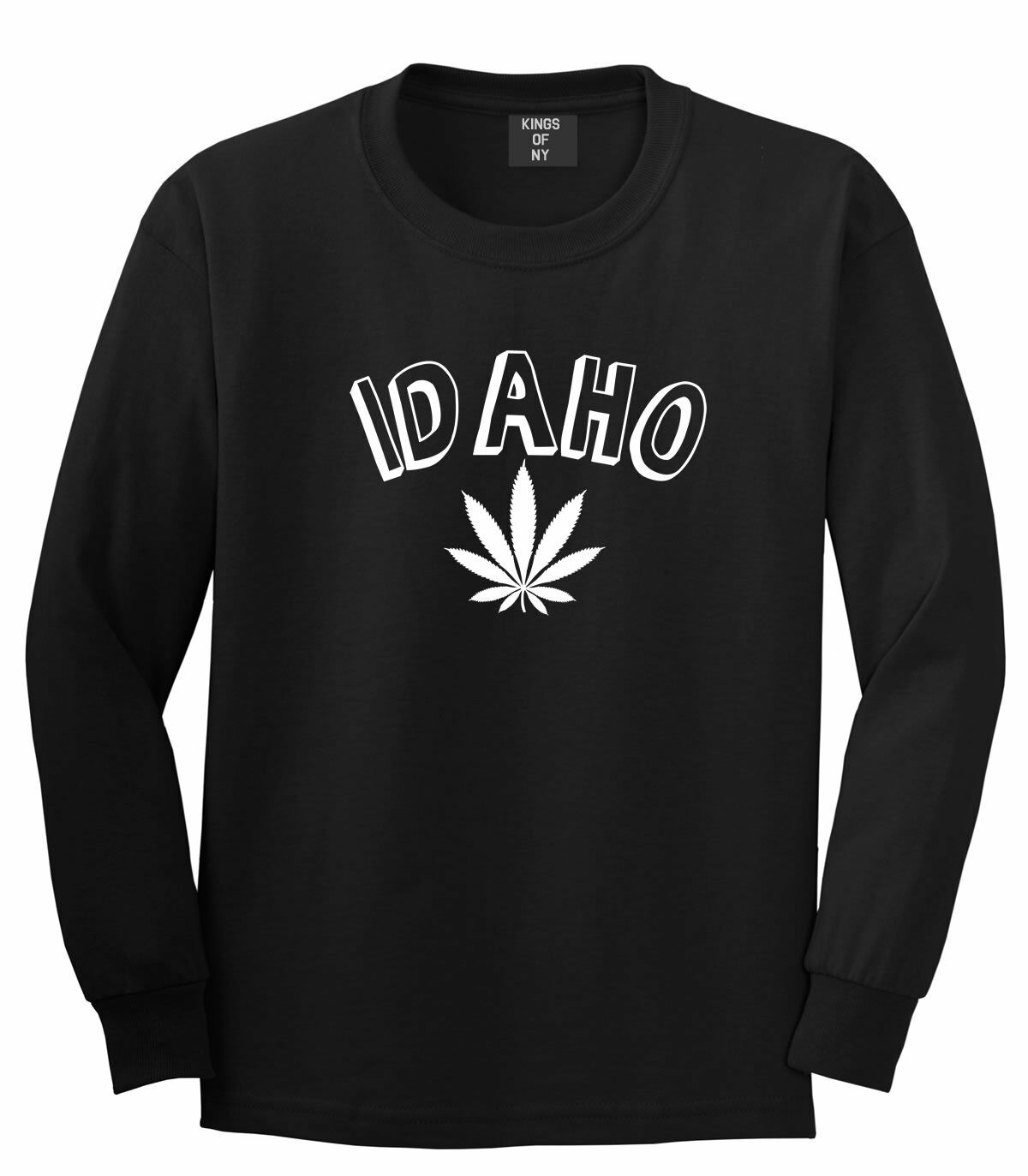 Marijuana Weed Idaho USA State ID Long Sleeve T-Shirt 1
