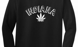 Marijuana Weed Indiana USA State IN Long Sleeve T-Shirt 6