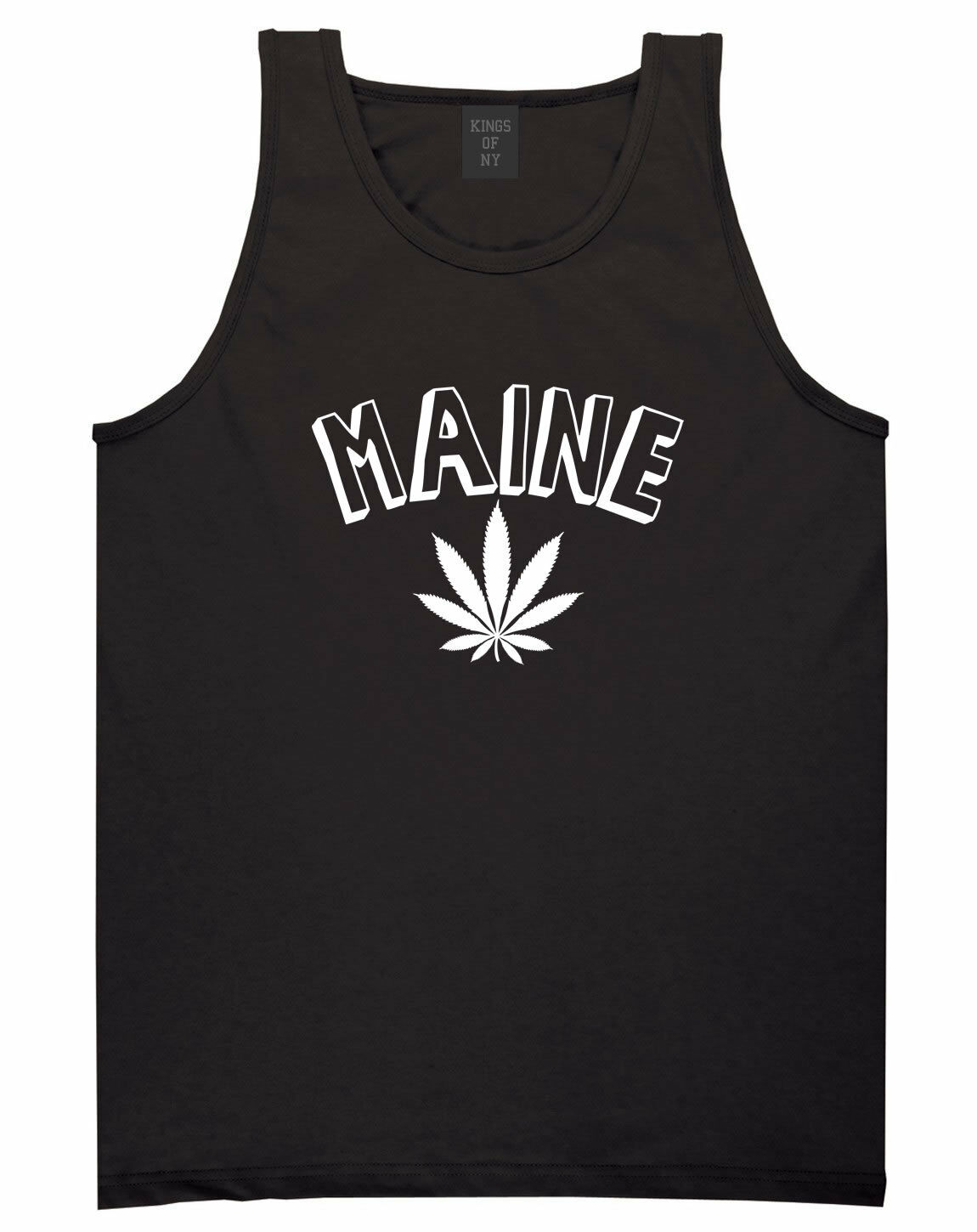 Marijuana Weed Maine USA State ME Tank Top T-Shirt 1