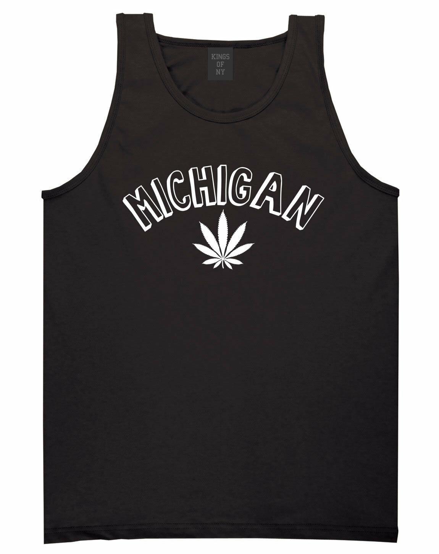 Marijuana Weed Michigan USA State MI Tank Top T-Shirt 1